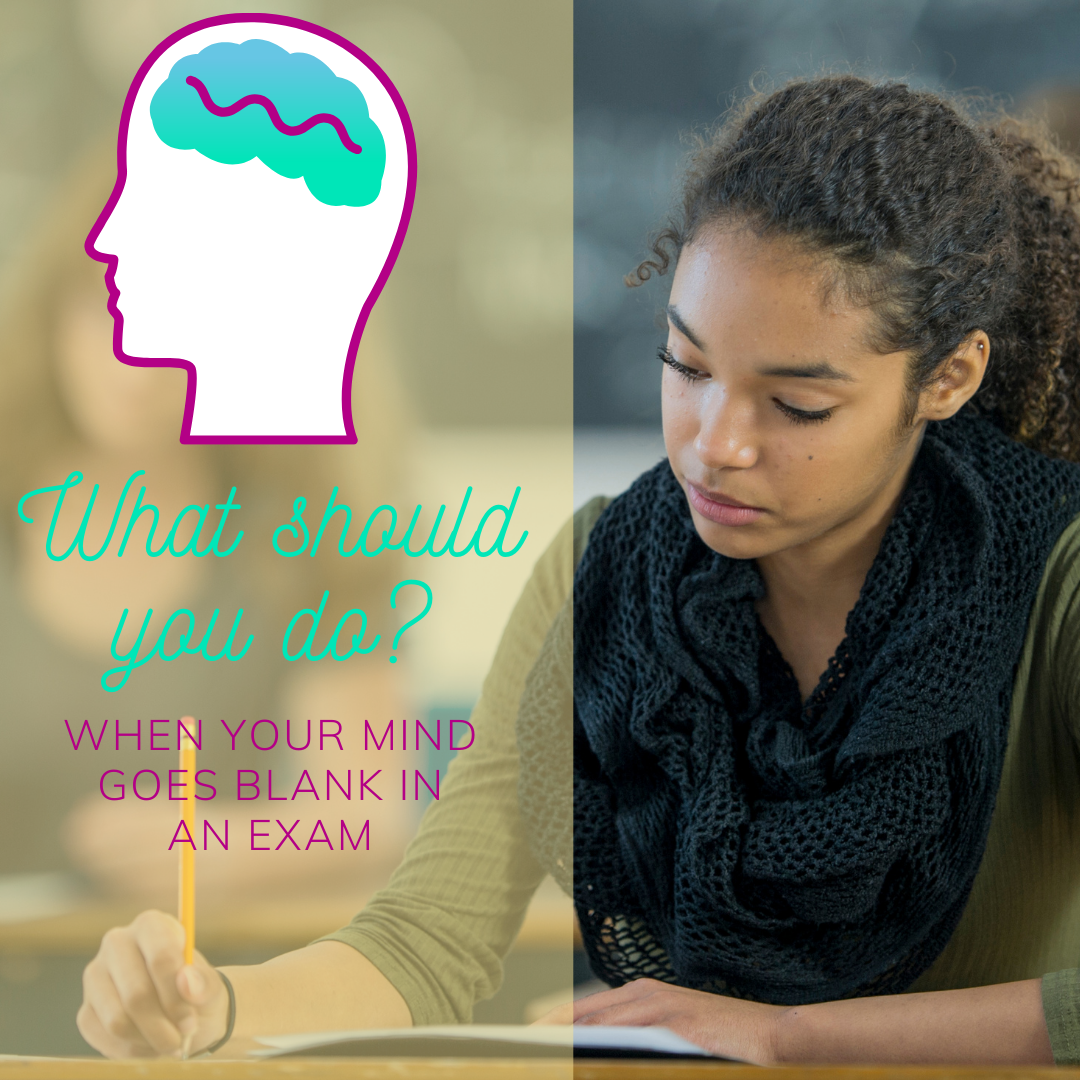 What should you do when your mind goes blank in an exam?